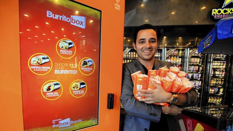 Denis Koce y su máquina expendedora BurritoBox