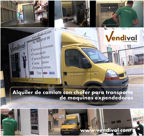 transportar maquinas vending
