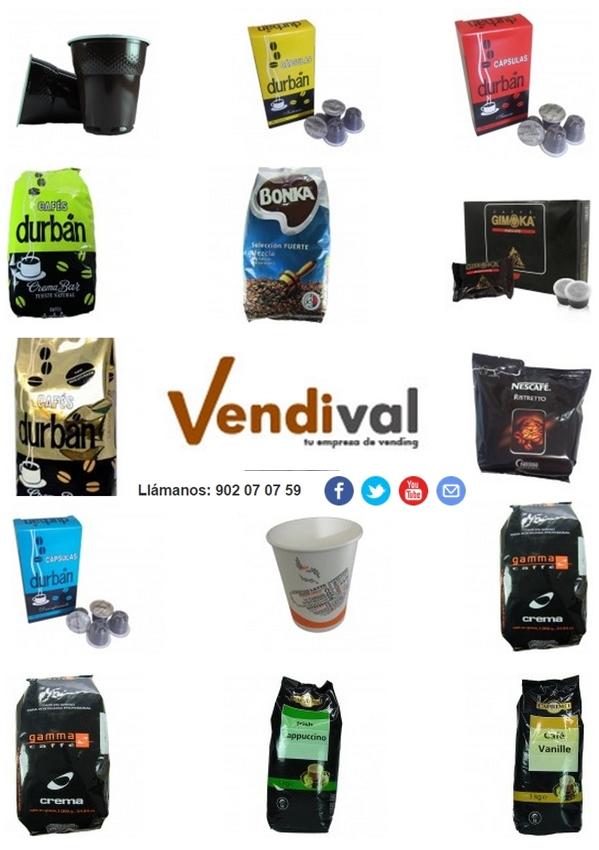 ver en tienda selección de cafés de Vendival