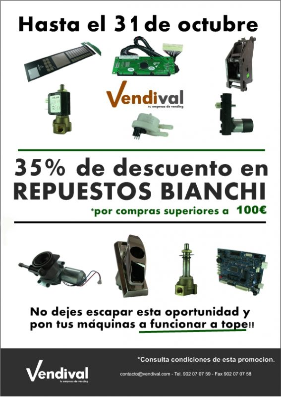 repuestos vending