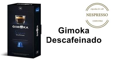 gimoka descafeinado nespresso capsulas cafe caja negra