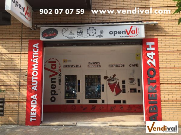 tiendas automaticas en Valencia 24 horas