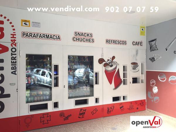 tiendas automaticas 24 horas en Valencia