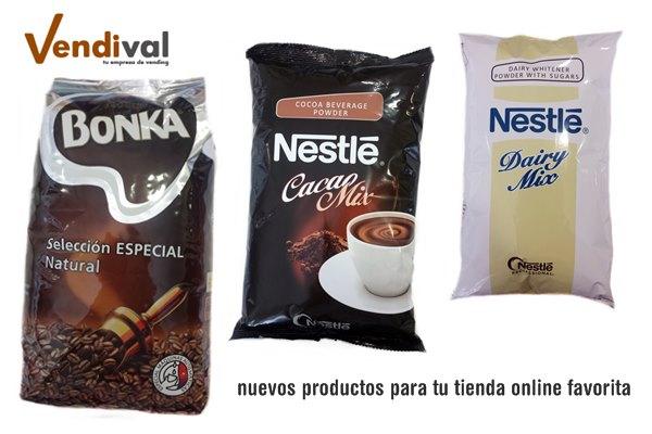 nuevos consumibles vending para tienda online vendival