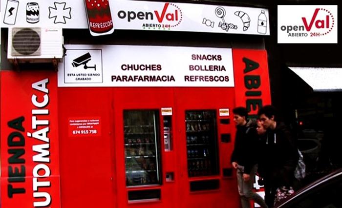 tienda vending 24 horas en Valencia