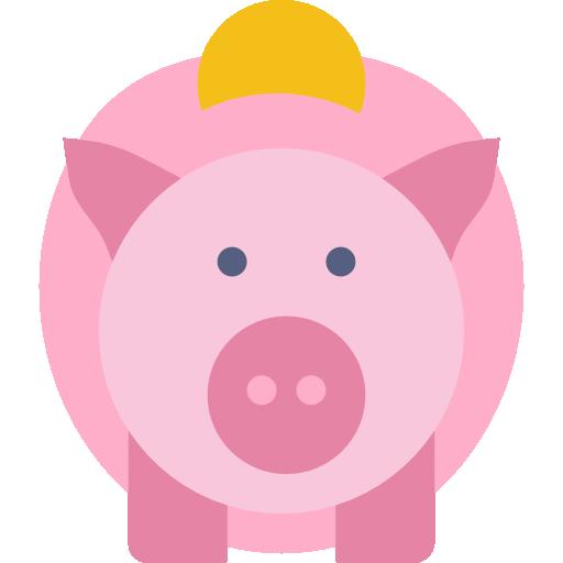 icono de una hucha en forma de cerdo
