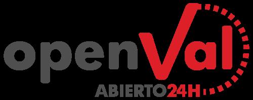 logo open val (abierto 24 horas)