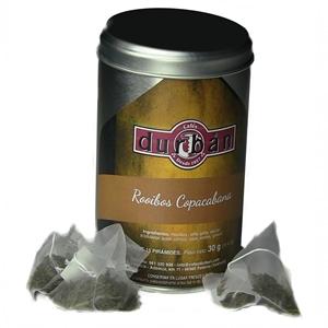 Té rooibos copacabanaIngredientes: Rooibos, piña (piña, azúcar, acidelante, ácido cítrico), coco, aroma, girasol.Presentación bote con 15 bolsitas de té
