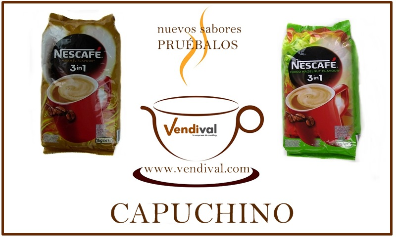 cafe capuchino 3 en uno nestle vending