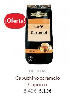 cafe capuchino caramelo de caprimo en oferta