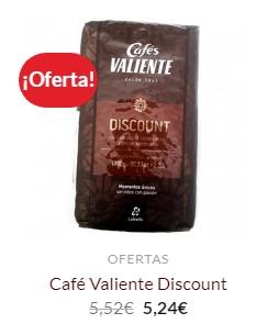 cafe valiente discount para maquinas de cafe