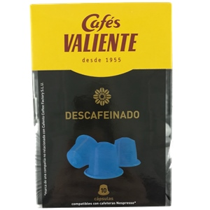 Cápsulas Valiente Compatible Nespresso Descafeinado