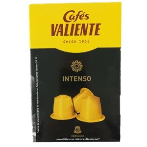 Cápsulas Valiente Compatible Nespresso Intenso