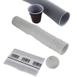 vasos plástico, tapas y paletinas plástico