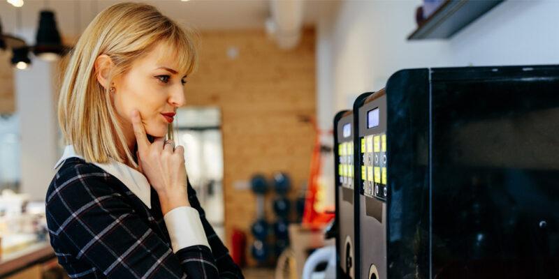 máquinas vending vuelta oficina